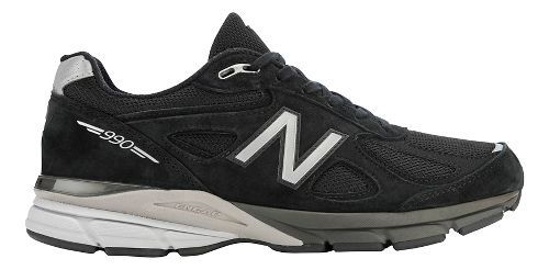 Mens New Balance 990v4 Running Shoe - Black/Silver 8.5