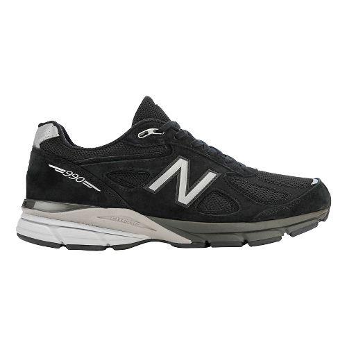Mens New Balance 990v4 Running Shoe - Black/Silver 12