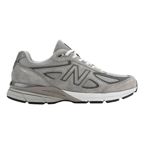 Mens New Balance 990v4 Running Shoe - Black/Silver 8.5