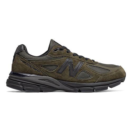 Mens New Balance 990v4 Running Shoe - Military Green 12
