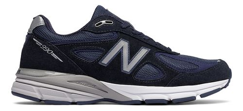 Mens New Balance 990v4 Running Shoe - Navy/Silver 7.5