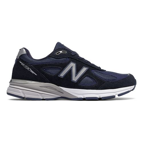 Mens New Balance 990v4 Running Shoe - Navy/Silver 12.5
