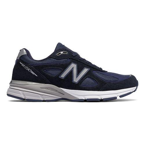 Mens New Balance 990v4 Running Shoe - Navy/Silver 8