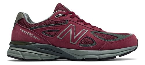 Mens New Balance 990v4 Running Shoe - Burgundy 9