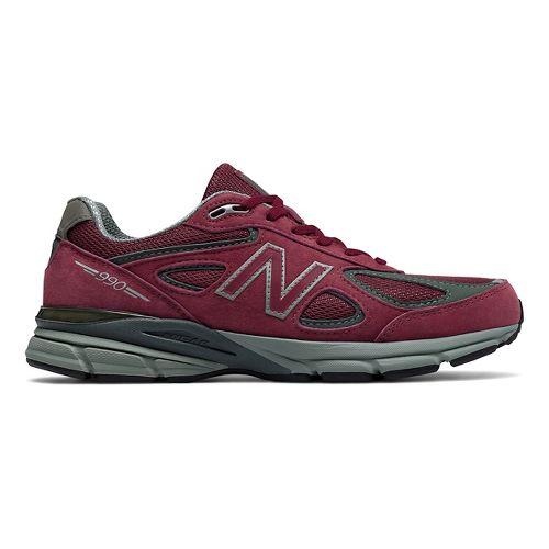 Mens New Balance 990v4 Running Shoe - Burgundy 8.5