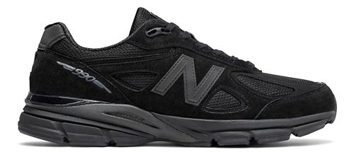 Mens New Balance 990v4 Running Shoe - Black/Black 8.5
