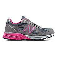 Womens New Balance 990v4 Running Shoe - Grey/Pink 5