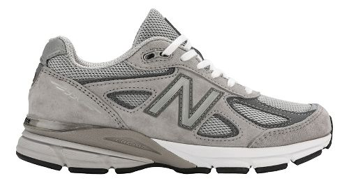 Womens New Balance 990v4 Running Shoe - Grey/Pink 13