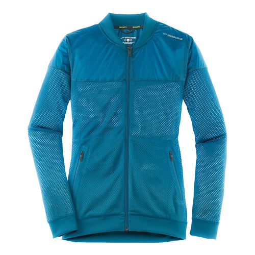 Womens Brooks Run-Thru Running Jackets - River M