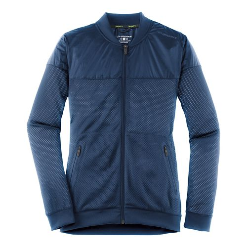 Womens Brooks Run-Thru Running Jackets - Navy M