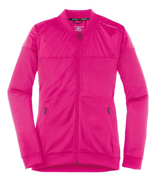 Womens Brooks Run-Thru Running Jackets - Bloom S
