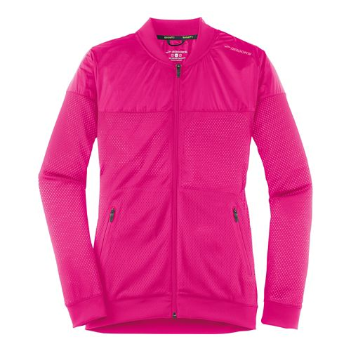 Womens Brooks Run-Thru Running Jackets - Bloom M