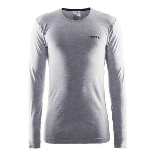 Mens Craft Active Comfort RN Long Sleeve Technical Tops - Grey XL