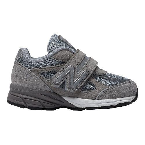 Kids New Balance 990v4 Running Shoe - Grey/Grey 9C