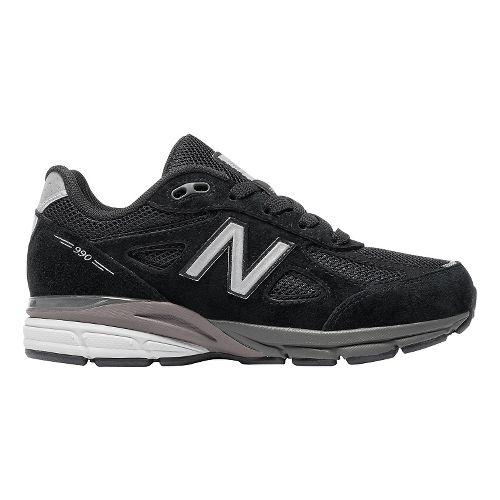 Kids New Balance 990v4 Running Shoe - Black/Black 11C