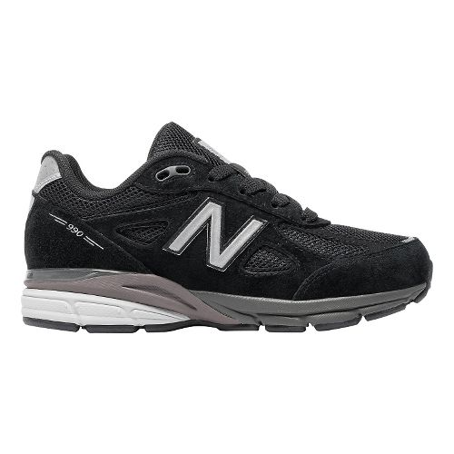 Kids New Balance 990v4 Running Shoe - Black/Black 2.5Y
