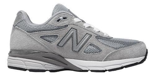 Kids New Balance 990v4 Running Shoe - Grey/Grey 2.5Y