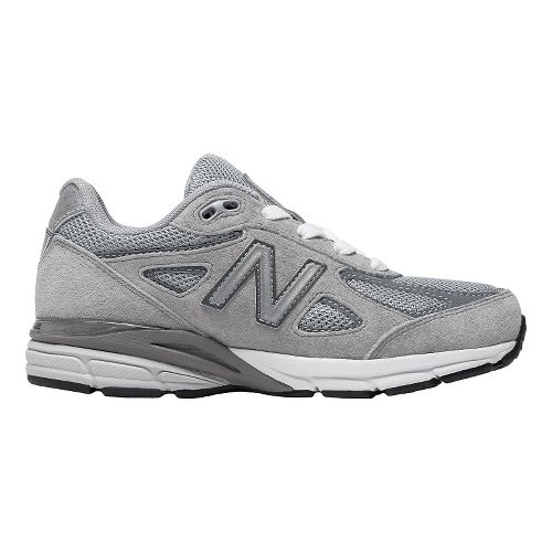 Kids New Balance 990v4 Running Shoe - Grey/Grey 13C
