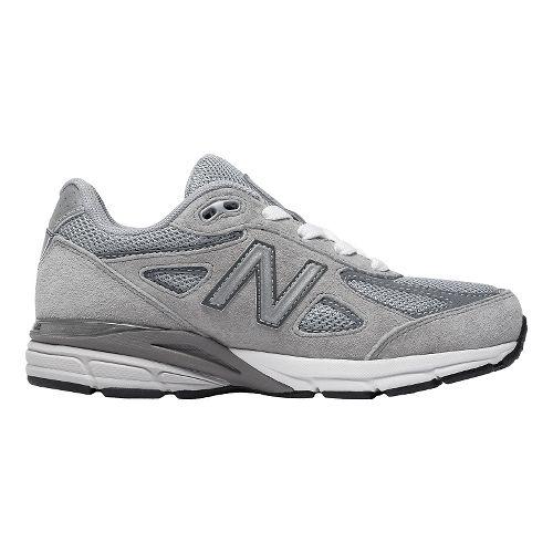 Kids New Balance 990v4 Running Shoe - Grey/Grey 1Y