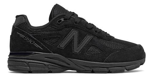 Kids New Balance 990v4 Running Shoe - Black 12C
