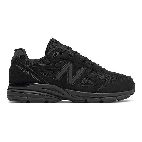 Kids New Balance 990v4 Running Shoe - Black 13C