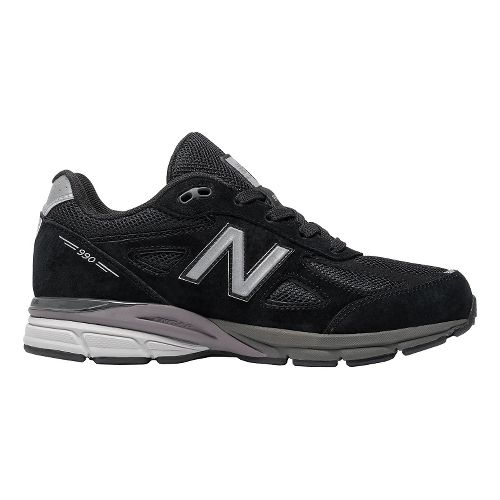 Kids New Balance 990v4 Running Shoe - Black/Black 5.5Y