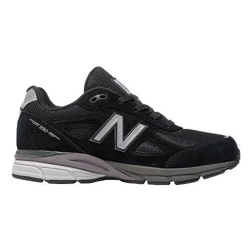 Kids New Balance 990v4 Running Shoe - Black/Black 6Y