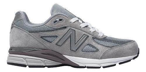 Kids New Balance 990v4 Running Shoe - Grey/Grey 4.5Y