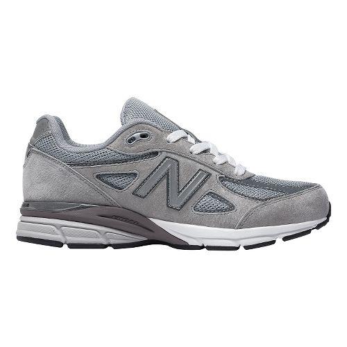 Kids New Balance 990v4 Running Shoe - Grey/Grey 5Y