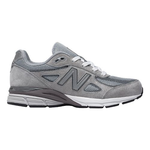 Kids New Balance 990v4 Running Shoe - Grey/Grey 6.5Y