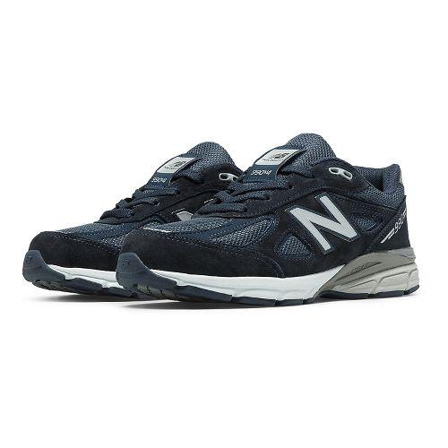 Kids New Balance 990v4 Running Shoe - Navy/Navy 4Y