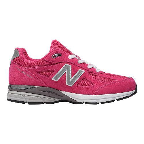 Kids New Balance 990v4 Running Shoe - Grey/Grey 6Y