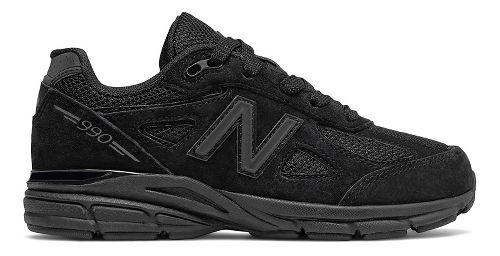 Kids New Balance 990v4 Running Shoe - Black 6.5Y