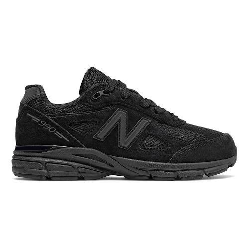 Kids New Balance 990v4 Running Shoe - Black/Black 3.5Y