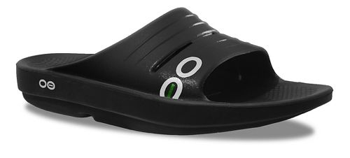 Womens OOFOS OOlala Slide Sandals Shoe - Black/Black 10