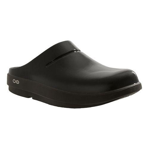OOFOS OOcloog Luxe Sandals Shoe - Black 6