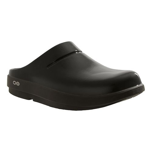 OOFOS OOcloog Luxe Sandals Shoe - Black 8