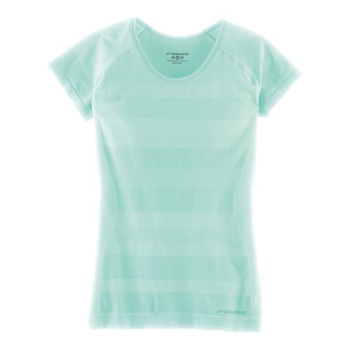 Womens Brooks Streaker Short Sleeve Technical Tops - Heather Surf S