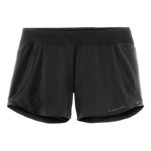 Womens Brooks Chaser 5in Lined Shorts - Black L