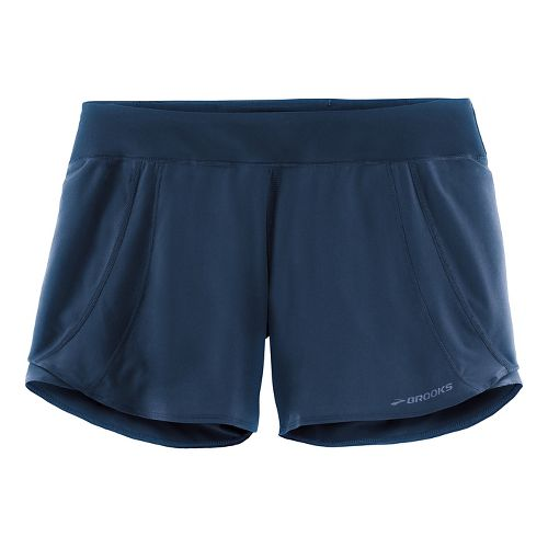 Womens Brooks Chaser 5in Lined Shorts - Navy XS