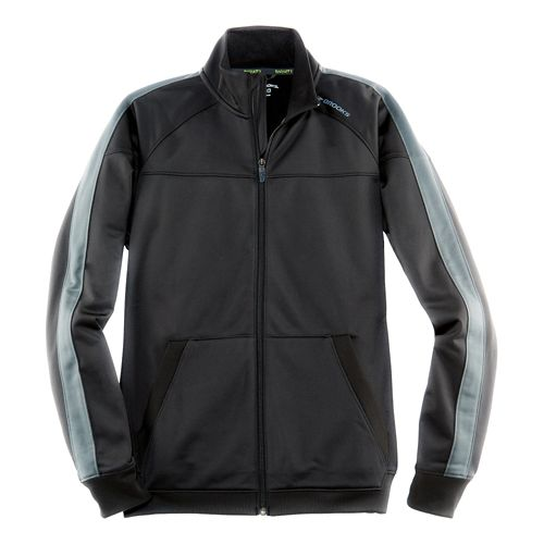 Mens Brooks Rally Running Jackets - Black/Asphalt L