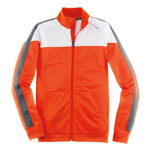 Mens Brooks Rally Running Jackets - Desert/White S