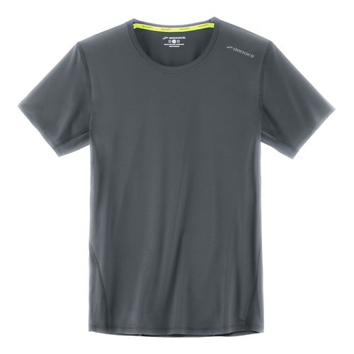 Mens Brooks Steady Short Sleeve Technical Tops - Asphalt L
