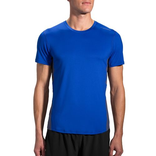 Mens Brooks Steady Short Sleeve Technical Tops - Basin/Coast XL