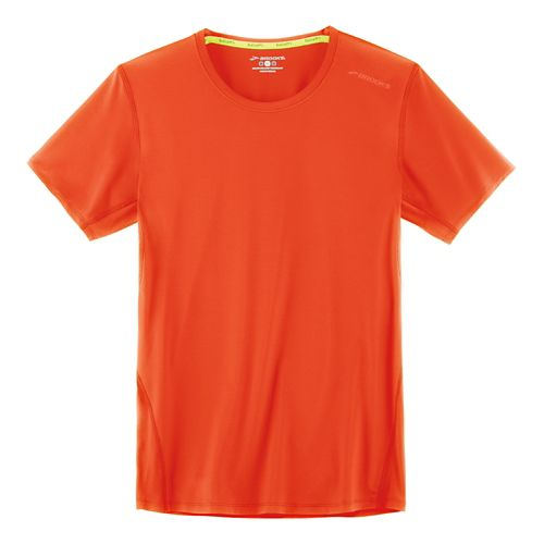Mens Brooks Steady Short Sleeve Technical Tops - Desert XL