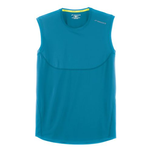 Mens Brooks Steady Sleeveless & Tank Technical Tops - River XS