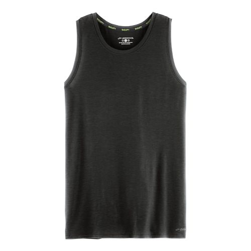 Mens Brooks Distance Sleeveless & Tank Technical Tops - Heather Black XL