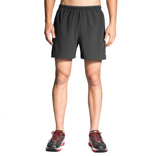 Mens Brooks Sherpa 5in 2-in-1 Shorts - Black L