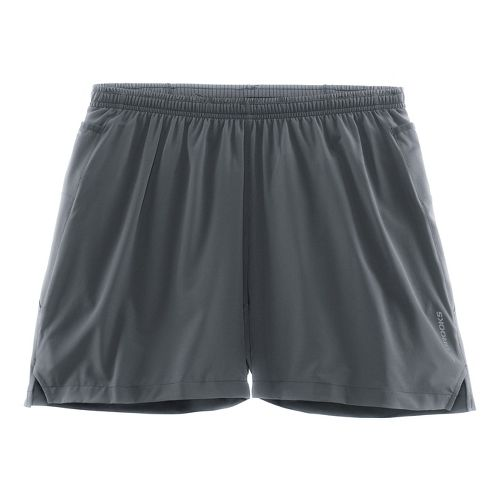 Mens Brooks Sherpa 5in 2-in-1 Shorts - Asphalt XL