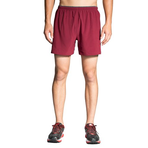 Mens Brooks Sherpa 5in 2-in-1 Shorts - Root XL